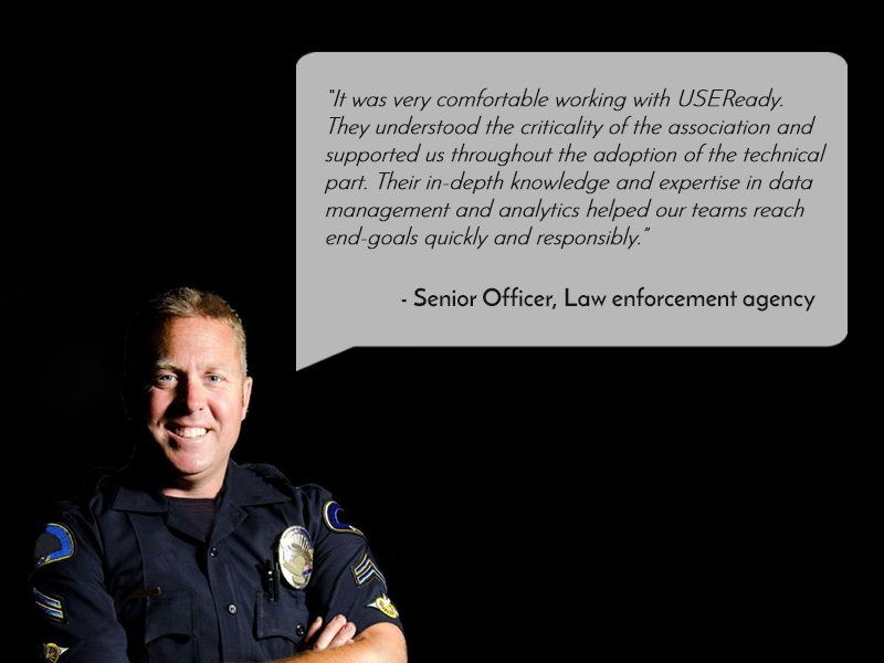 US LAW ENFORCEMENT AGENCY LEVERAGES TABLEAU TO REINFORCE INFORMATION STRUCTURE, VERDICT LAW OFFENDERS & ACCELERATE JUSTICE PROCESSES