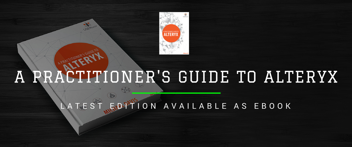 A practitioner's guide to Alteryx - now available as eBook